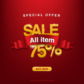 Super discount, special offer sale all item up to 75%