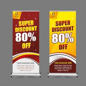 Super discount standing banner template