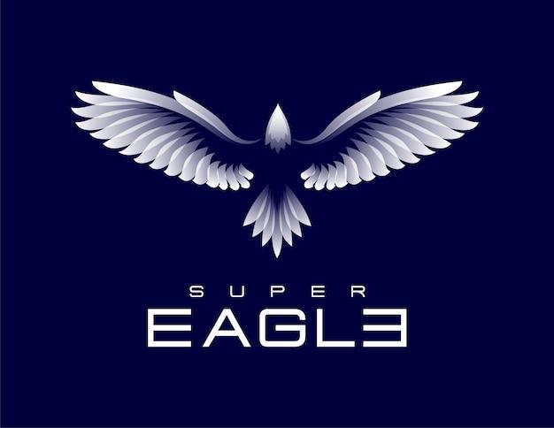 Шаблон логотипа super eagle