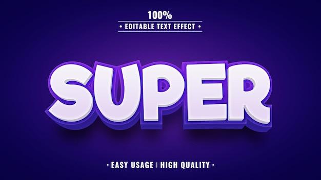 Super editable 3d text effect