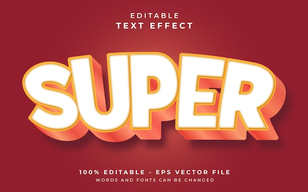 Super editable text effect