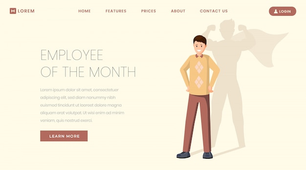 Super employee landing page template