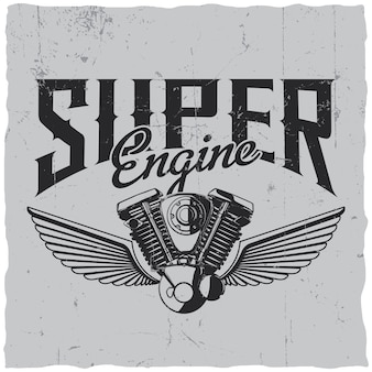 Super engine label