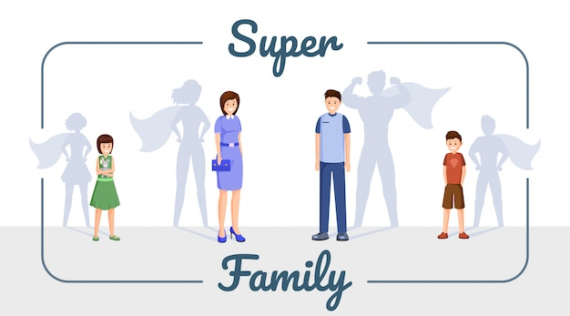 Super family banner template