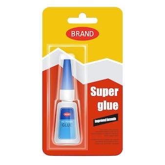 Super fix glue tube realistic
