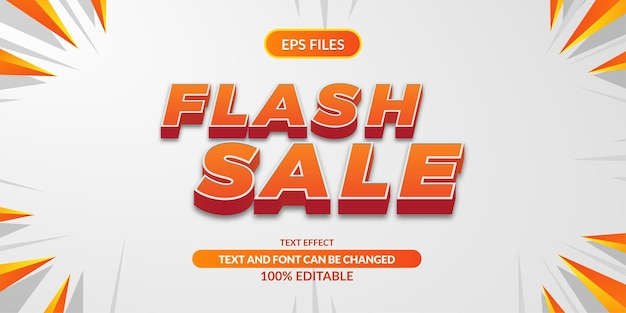 Super flash 3d editable text effect. eps vector file. promo discount offer poster banner