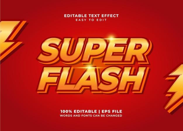 Текстовые эффекты super flash