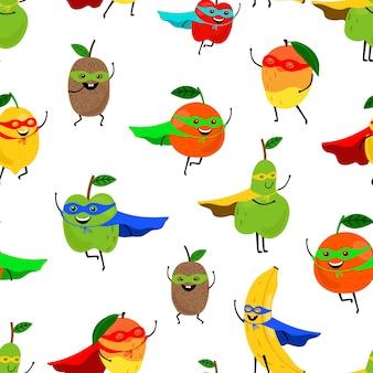 Супер фрукты бесшовные модели.