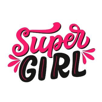 Super girl lettering