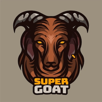 Super goat illustration