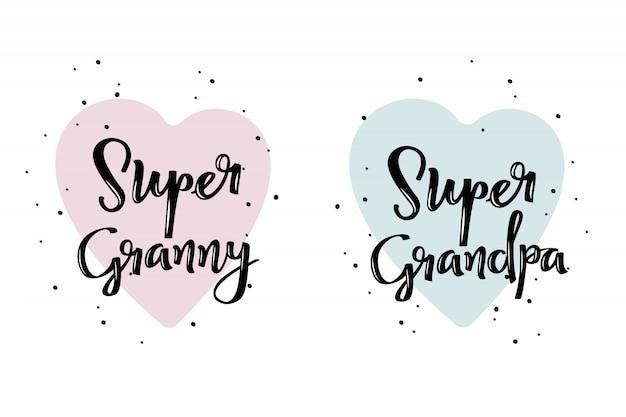 Super granny and super grandpa poster.
