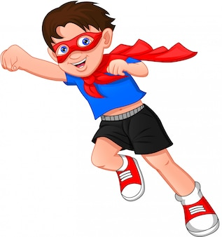 Super hero boy posing