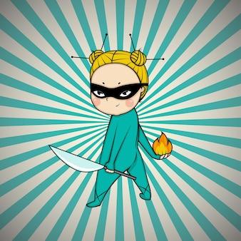 Супергерой шеф-повар японской кухни по комиксам