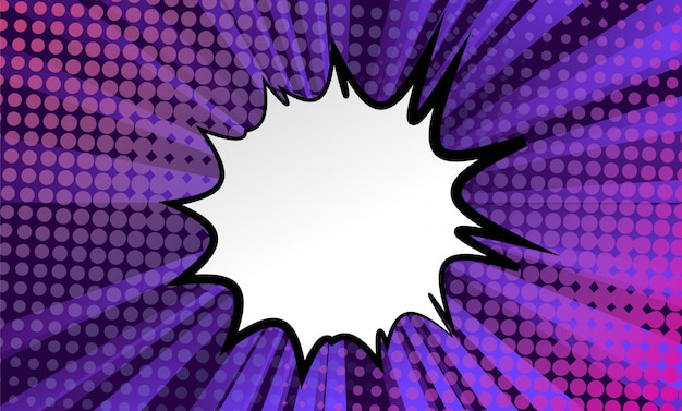 Super hero comic book background with bubble
