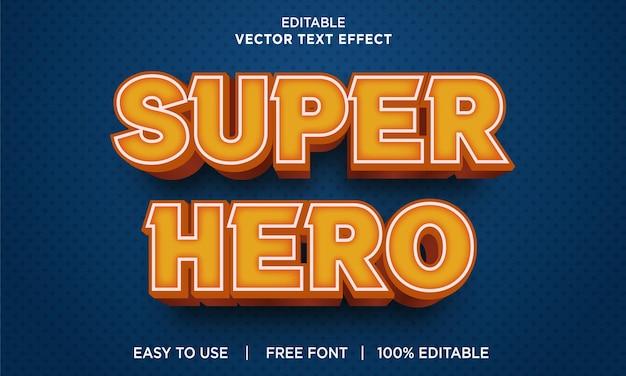 Редактируемый текстовый эффект супергероя с премиум векторы