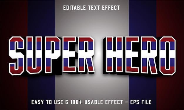Редактируемый текстовый эффект супергероя