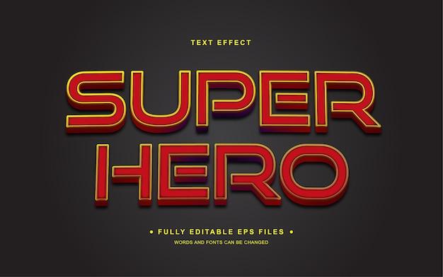 Super hero editable text