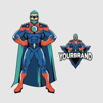 スーパーヒーローのロゴ