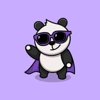 Супер герой панда. супер панда
