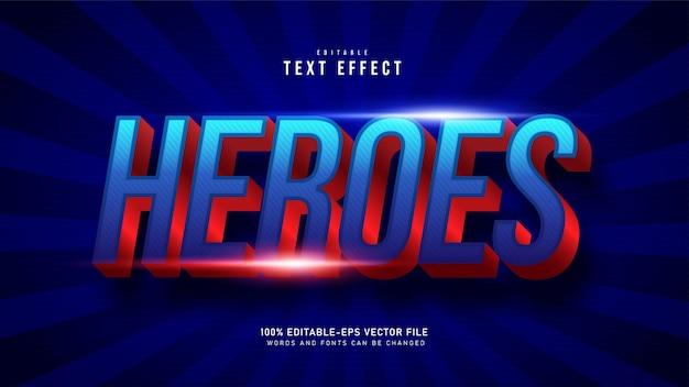 Текстовый эффект супергероя