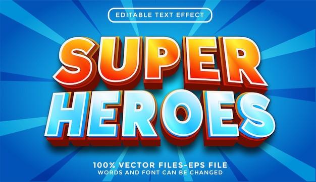 Super heroes - illustrator editable text effect premium vector