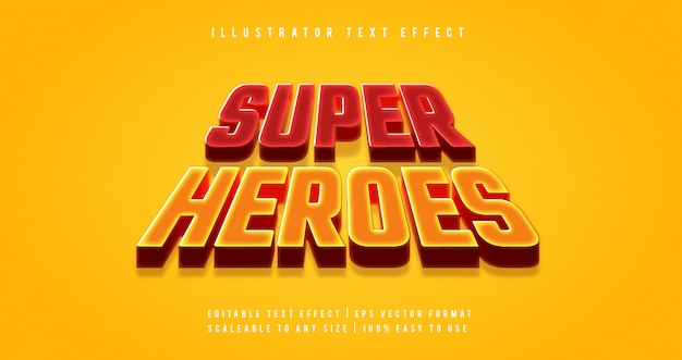 Super heroes movie text style font effect