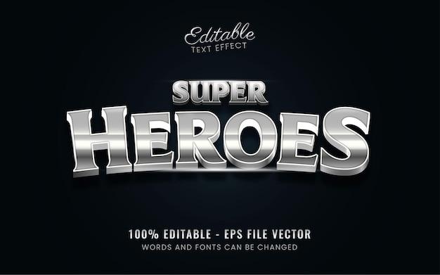 スーパーヒーローのテキスト効果