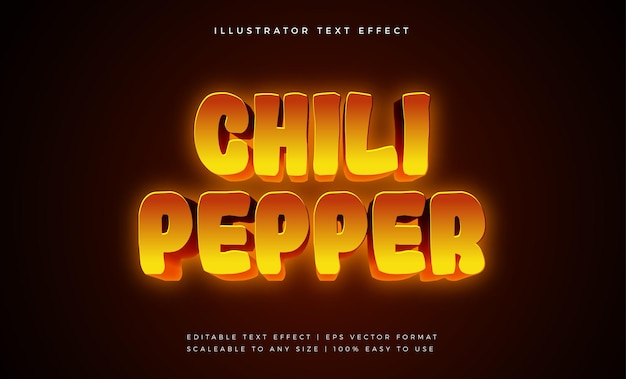 Super hot tasty food text style font effect