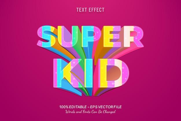 Текстовый эффект super kid