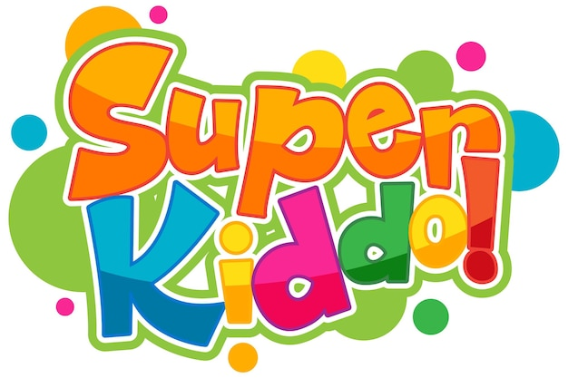 Disegno del testo del logo super kiddo