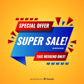 Super mega sale banner design