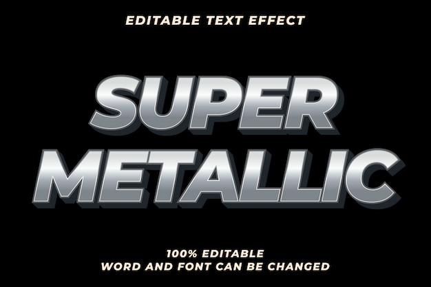 Super metal text style effect premium