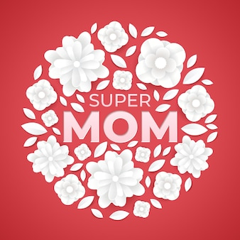 スーパーママの花のイラスト