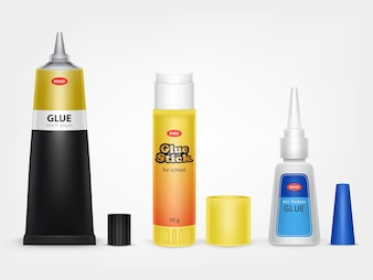 Super and moment glue tubes realistic