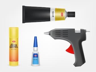 Super, moment and stick glue, glue gun