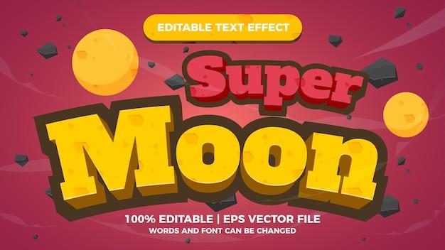 Super moon editable text effect