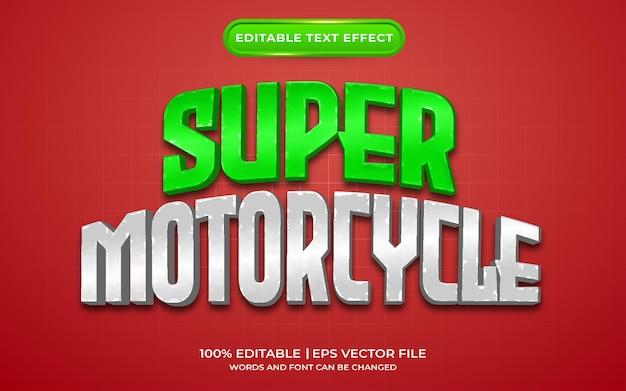 Стиль шаблона текстового эффекта супер мотоцикла