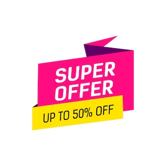 Super offer lettering on origami bubble