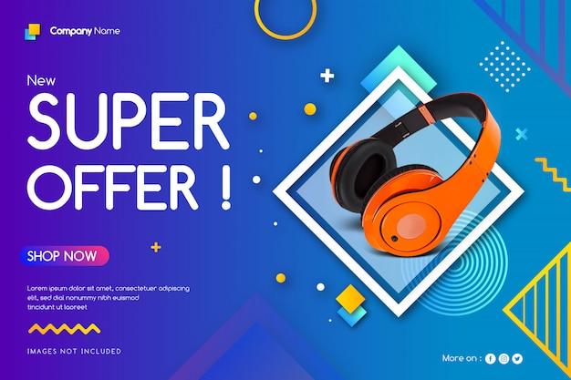 Super offer sale banner
