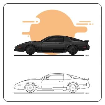 Super power car easy editable