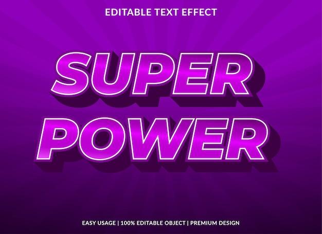 ロゴとブランドのスーパーパワーテキスト効果テンプレートプレミアムスタイルの使用