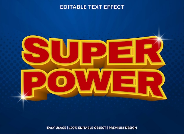 Super power text effect