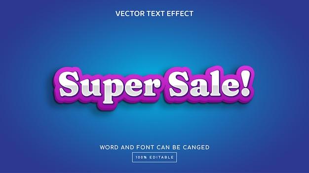 Super sale 3d editable text effect template