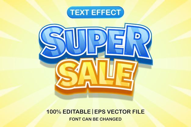 슈퍼 판매 3d 편집 가능한 텍스트 효과