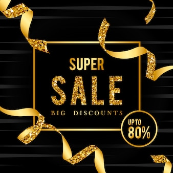 Super sale 80% off sign vector