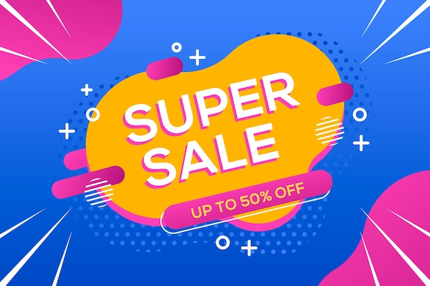 Super sale abstract background