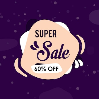 Super sale abstract template design