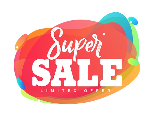Super sale abstract vector illustration