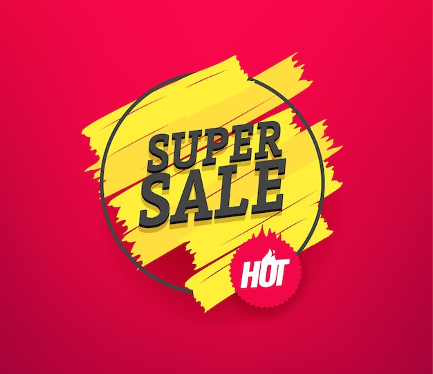 Super sale  advertising banner