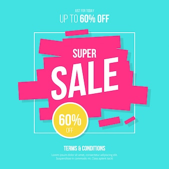 Super sale background with modern colors
